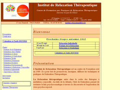 Détails : INSTITUT DE RELAXATION THERAPEUTIQUE